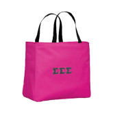 Tropical Pink Essential Tote-Glitter Greek Style Letters