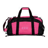 Tropical Pink Gym Bag-Glitter Greek Style Letters