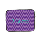 10 inch Neoprene iPad/Tablet Sleeve-Purple Chevron Pattern