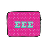 10 inch Neoprene iPad/Tablet Sleeve-Pink Dot Pattern