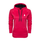 Ladies Pink Raspberry Tech Fleece Hoodie-Sailboat