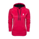 Ladies Pink Raspberry Tech Fleece Hoodie-Sailboat