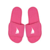Hot Pink Waffle Slippers-Sailboat