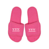 Hot Pink Waffle Slippers-Greek Letters - One Color