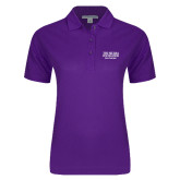 Ladies Easycare Purple Pique Polo-Tri Sigma Foundation