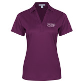 Ladies Purple Performance Fine Jacquard Polo-Tri Sigma Foundation