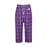 Ladies Purple/White Flannel Pajama Pant-Sailboat