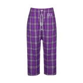 Ladies Purple/White Flannel Pajama Pant-Greek Letters - One Color