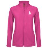 Ladies Fleece Full Zip Raspberry Jacket-Sailboat
