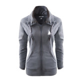 Ladies Sport Wick Stretch Full Zip Charcoal Jacket-Sailboat