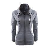 Ladies Sport Wick Stretch Full Zip Charcoal Jacket-Sailboat