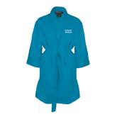 Aqua Waffle Kimono Robe-Greek Letters - One Color