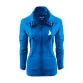 Ladies Sport Wick Stretch Full Zip Sapphire Jacket-Sailboat