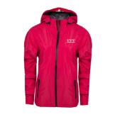 Ladies Dark Fuchsia Waterproof Jacket-Greek Letters - One Color