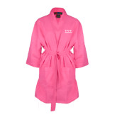 Hot Pink Waffle Kimono Robe-Greek Letters - One Color