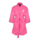 Hot Pink Waffle Kimono Robe-Monogram in Circle