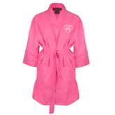Hot Pink Waffle Kimono Robe-Big in Heart