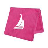 Pink Beach Towel-Sailboat