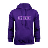 Purple Fleece Hoodie-Tackle Twill