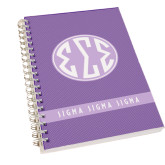 Clear 7 x 10 Spiral Journal Notebook-Dot Pattern Sorority Colors