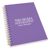 Clear 7 x 10 Spiral Journal Notebook-Tri Sigma Foundation