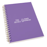 Clear 7 x 10 Spiral Journal Notebook-March of Dimes