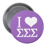 2.25 inch Round Button-I Heart