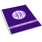 College Spiral Notebook w/Clear Coil-Dot Pattern Sorority Colors