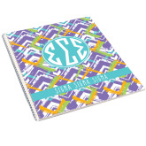 College Spiral Notebook w/Clear Coil-Tricolor Chalk Pattern