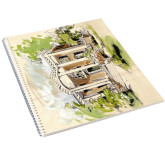 College Spiral Notebook w/Clear Coil-Mable Lee Walton Museum