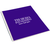 College Spiral Notebook w/Clear Coil-Tri Sigma Foundation