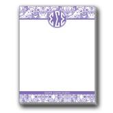 Designer 4.5 x 5.75 Notepads 5/pkg-India Purple Pattern