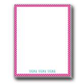 Designer 4.5 x 5.75 Notepads 5/pkg-Rasberrry Dot Pattern