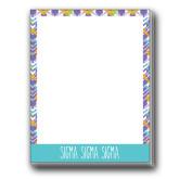 Designer 4.5 x 5.75 Notepads 5/pkg-Tricolor Chalk Pattern