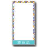Designer 3.5 x 7 Notepads 5/pkg-Tricolor Chalk Pattern