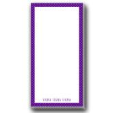 Designer 3.5 x 7 Notepads 5/pkg-Dot Pattern Sorority Colors