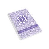 Designer  5 x 8 Coil Book-India Purple Pattern