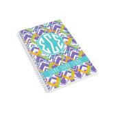 Designer  5 x 8 Coil Book-Tricolor Chalk Pattern