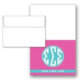 Designer Folded Notecards/Envelopes w/Rasberry Dot Pattern 10/pkg-Rasberrry Dot Pattern