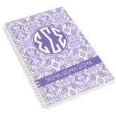 Designer 8.5 x 11 Coil Book-India Purple Pattern