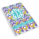Designer 8.5 x 11 Coil Book-Tricolor Chalk Pattern
