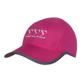 Pink/Charcoal Trail Blaze Cap-Greek Letters - One Color