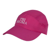 Pink Pace Setter Cap-Tri Sigma Stacked - Official
