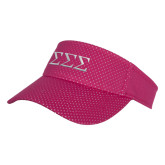 Pink Athletic Mesh Visor-Greek Letters - One Color