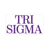 Small Magnet-Tri Sigma Stacked - Official, 6 inches wide