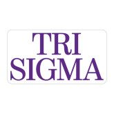 Large Magnet-Tri Sigma Stacked - Official, 12 inches wide