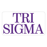Extra Large Magnet-Tri Sigma Stacked - Official, 18 inches wide