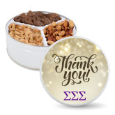Deluxe Mix Thank You Tin-Greek Letters - One Color