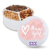 Deluxe Mix Baby Girl Tin-Greek Letters - One Color