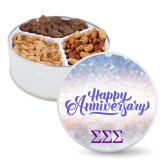 Deluxe Mix Happy Anniversary Tin-Greek Letters - One Color